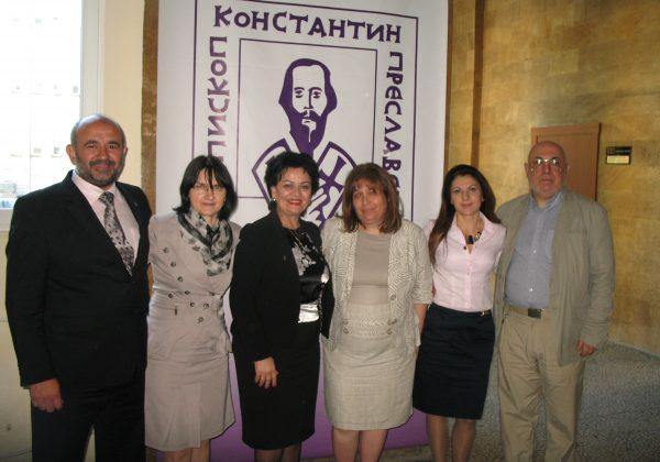 Работна среща на членовете на Лабораторията по приложна лингвистика на ШУ с колеги от Лабораторията по експериментална фонетика и патология на говора от Белград (Р Сърбия) [28.05.2013 г.]