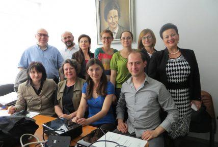 Работна среща на членовете на Лабораторията по приложна лингвистика на ШУ с колеги от Лабораторията по експериментална фонетика и патология на говора от Белград (Р Сърбия)