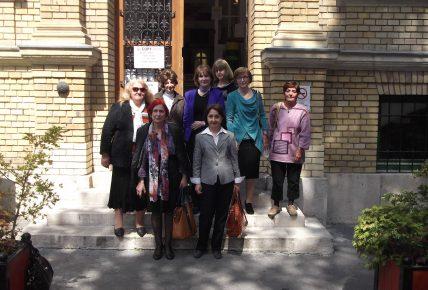 На конференция в Будапеща (2014 г.) – (на първия ред отляво надясно) гл.ас. д-р Красимира Колева, проф. д-р Надка Николова; (на втория ред отляво надясно) проф. д-р Марияна Стефанова, гл.ас. д-р Анета Маринова, проф. д.ф.н. Ивелина Савова, проф. д-р Добрина Даскалова, гл.ас. д-р Албена Баева; (на третия ред) гл.ас. Румяна Русинова